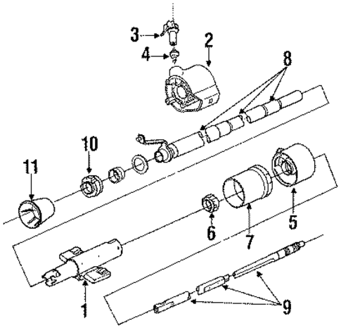 plymouth duster steering column diagram