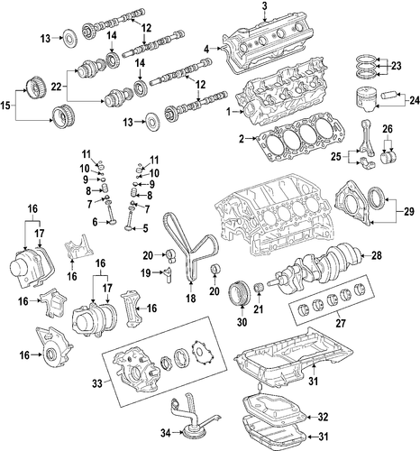 ENGINE/ENGINE for 2007 Toyota Land Cruiser #1