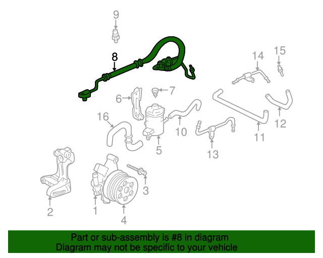 1999 Honda CIVIC SEDAN LX HOSE, POWER STEERING FEED (NICHIRIN) - (53713S04G61)