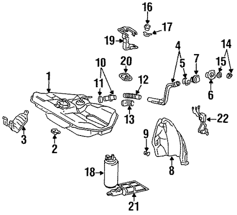 ELECTRICAL/SENDERS for 1996 Toyota Tercel #1