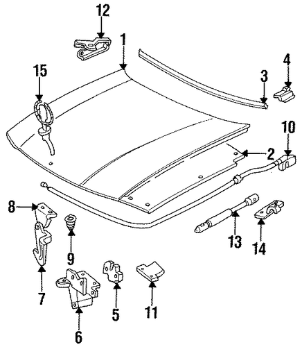hood  u0026 components for 1996 cadillac fleetwood  brougham