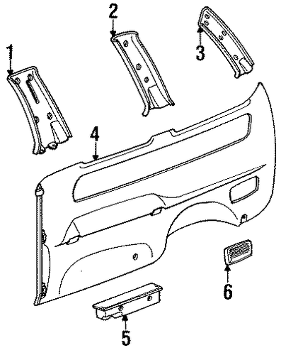 Upper Quarter Trim - Toyota (62639-95D00-10)