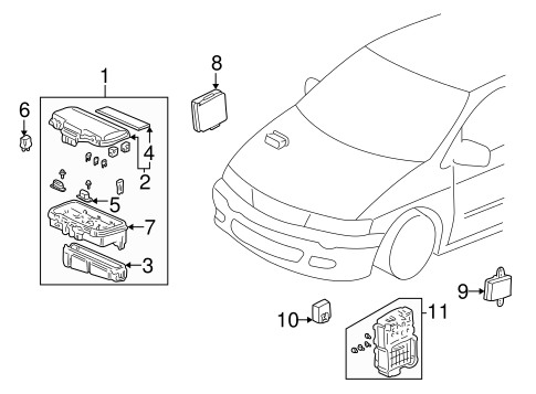 Relay Cover - Honda (38182-S84-A01)