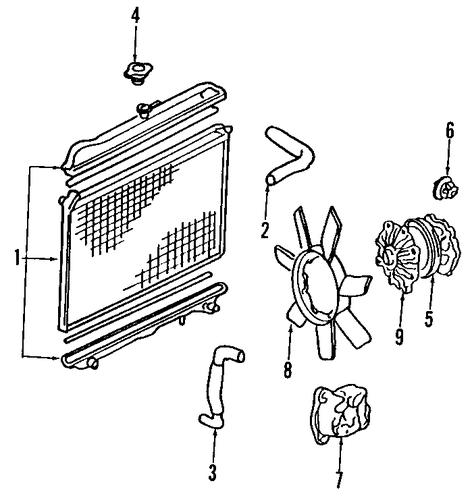 radiator  u0026 components for 2001 nissan pathfinder
