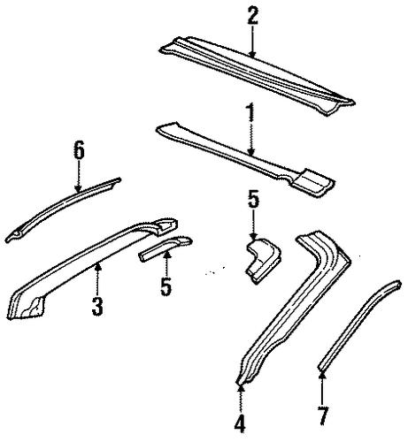 WINDSHIELD HEADER & COMPONENTS For 2001 Pontiac Firebird