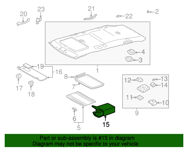 Storage Compartment - Toyota (63652-AA031-B2)