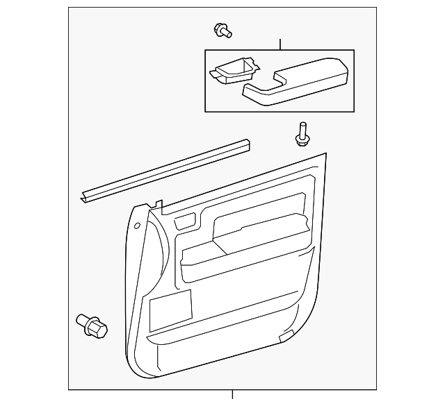 Door Trim Panel - Toyota (67620-0C391-C2)