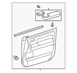 Door Trim Panel - Toyota (67610-0C400-E0)