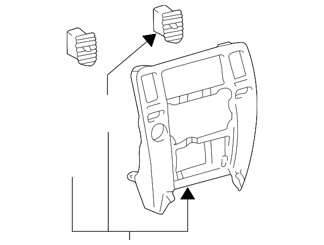 Center Panel - Toyota (55405-35430)