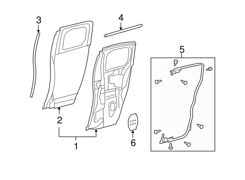 Door Shell - Toyota (67003-35222)