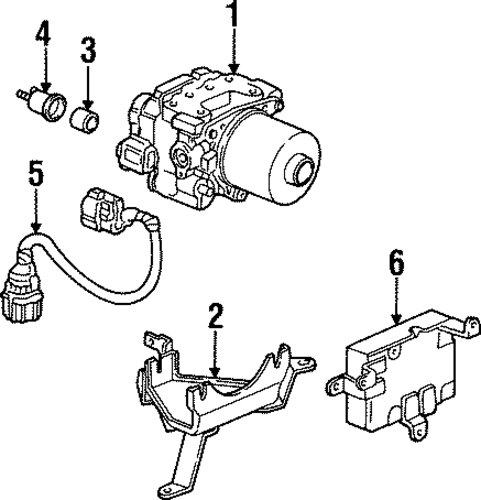 OEM Honda 57115-S30-000 - Modulator Support Bracket