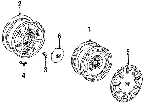 FRONT SUSPENSION/WHEELS for 1998 Toyota Avalon #1
