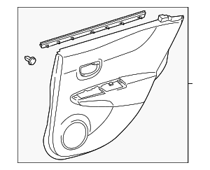 Door Trim Panel - Toyota (67640-52U60-C0)