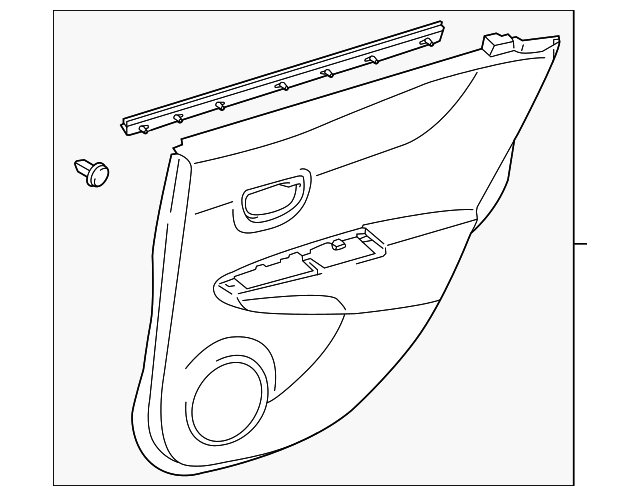 Door Trim Panel - Toyota (67640-0DE00-20)