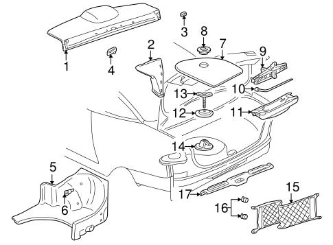 Oem Interior Trim Rear Body For 2003 Pontiac Sunfire