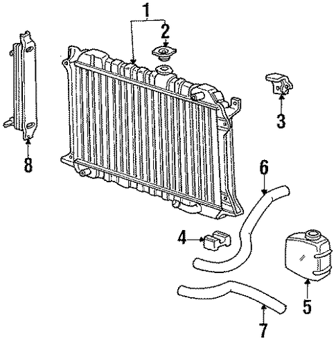 1984 Honda ACCORD HATCHBACK S Radiator (Denso) - (19010PD2674)