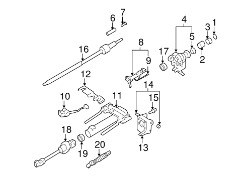 oem shaft  u0026 internal components for 2010 gmc canyon