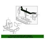 1997 Honda CIVIC SEDAN DX FRAME, BULKHEAD (UPPER) - (60431S04A02ZZ)