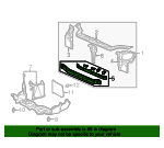 1997 Honda CIVIC SEDAN DX CROSSMEMBER SET, FR. (LOWER) - (04603S01A01ZZ)