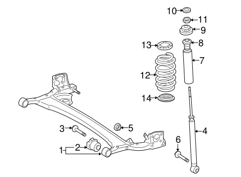 REAR SUSPENSION/REAR SUSPENSION for 2014 Toyota Yaris #1