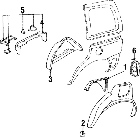inner structure for 2000 oldsmobile silhouette premiere