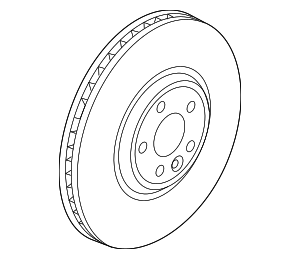 Disc Brake Rotor - Jaguar (T4A2343)