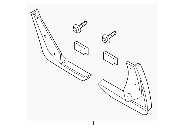 2015-2016 Ford Edge Splash Guards - Molded, Rear Pair