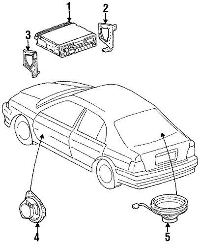 BODY/SOUND SYSTEM for 1997 Toyota Tercel #1