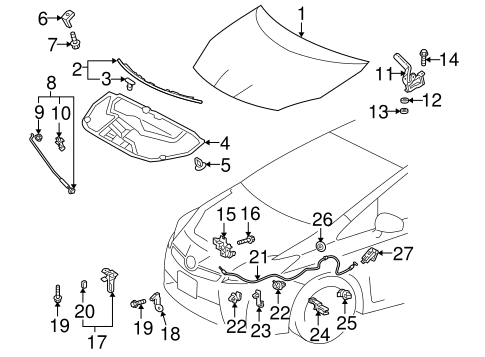 Safety Catch - Toyota (53550-47011)