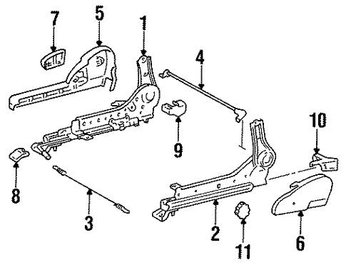 BODY/TRACKS & COMPONENTS for 1996 Toyota Corolla #1