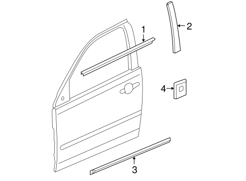 BODY/EXTERIOR TRIM - FRONT DOOR for 2005 Pontiac G6 #1