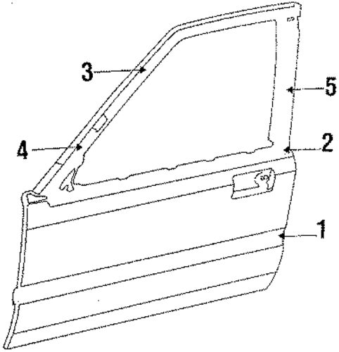 1987 Honda ACCORD SEDAN DX Molding Assembly, L Front Door - (72450SE3A02)