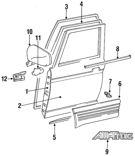 BODY/DOOR & COMPONENTS for 1997 Toyota Previa #2