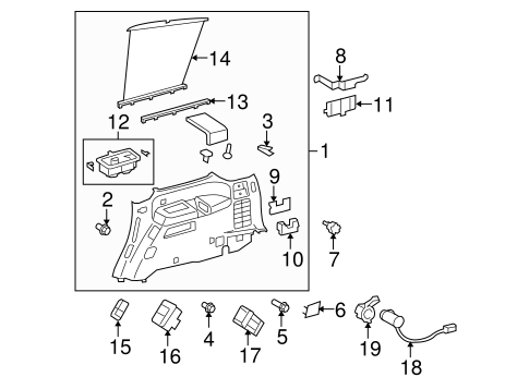 Hook Bracket - Toyota (62534-0C010)