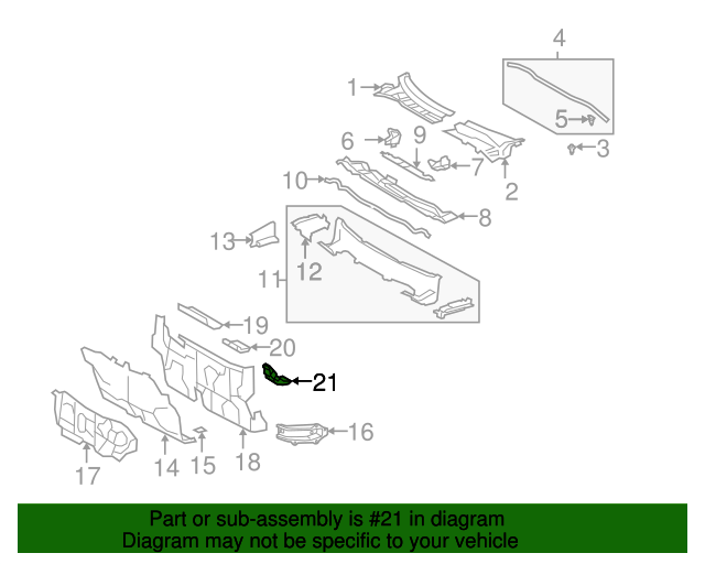 Lower Pad - Toyota (55216-02010)