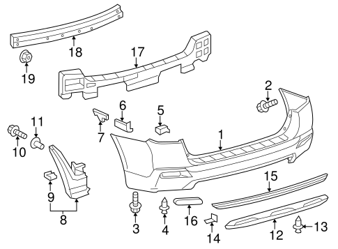 BODY/BUMPER & COMPONENTS - REAR for 2012 Toyota Highlander #1