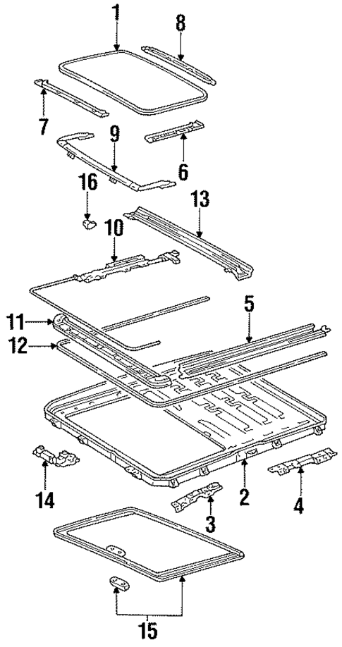 Guide Rail Seal - Toyota (63699-33010)
