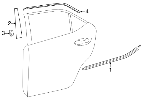 BODY/EXTERIOR TRIM - REAR DOOR for 2014 Toyota Corolla #1