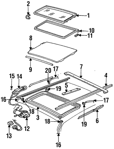 oem sunroof for 1999 cadillac deville