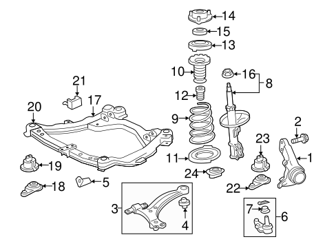 FRONT SUSPENSION/SUSPENSION COMPONENTS for 2013 Toyota Camry #1