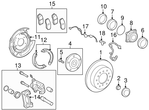 BRAKES/BRAKE COMPONENTS for 2013 Toyota Sequoia #1