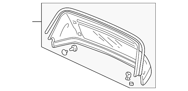 Rear Glass - Honda (86317-S2A-003)