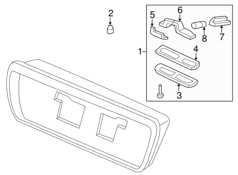1996 Honda CIVIC SEDAN DX GROMMET, SCREW (4MM) - (90521SE3003)
