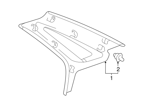 Upper Quarter Trim - Toyota (62470-AC030-E1)