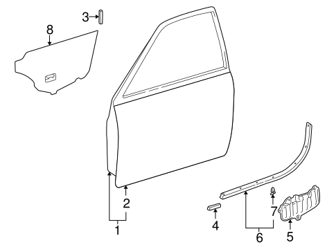 BODY/DOOR & COMPONENTS for 1998 Toyota Camry #1