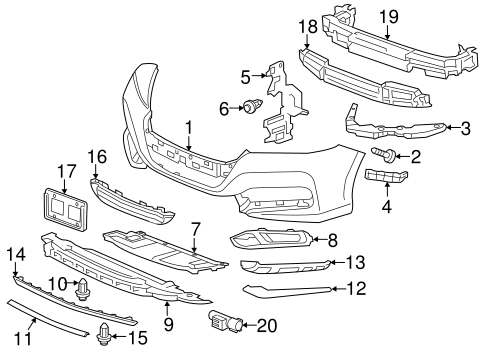 OEM Honda 71107-T3V-A00 - Lower Duct