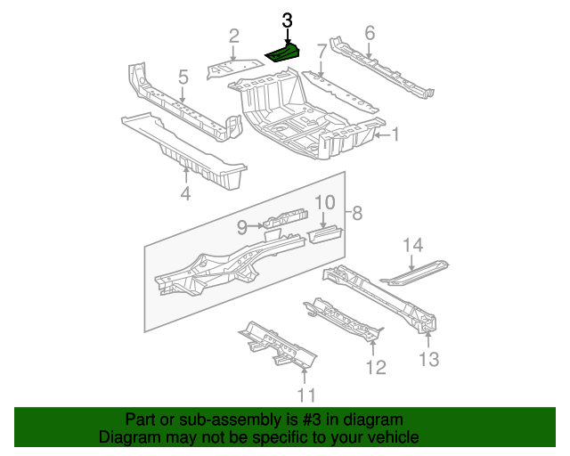 Side Extension Reinforcement - Toyota (58363-0R011)