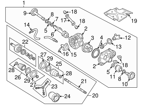 oem carrier  u0026 front axles for 1994 gmc sonoma