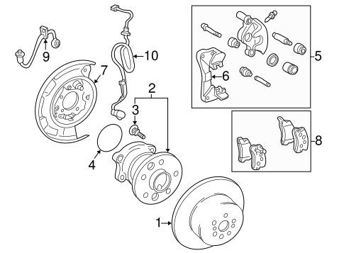 BRAKES/REAR BRAKES for 2001 Toyota Camry #2