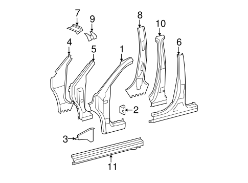 Center Pillar & Rocker Extension - Toyota (61046-0E020)